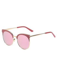 Mirrored Cat Eye Sunglasses - Pink