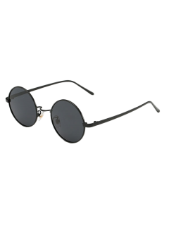 Streetwear Metal Round Sunglasses - Black