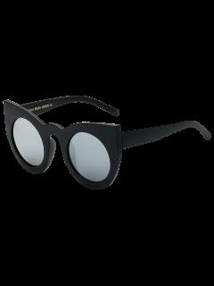 Lente De Espejo Redondo Del Gato De Los Ojos Gafas De Sol - Negro