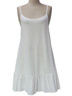Color Del Vestido Correas De Espagueti Espalda Abierta Sólido - Blanco Xl