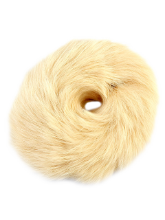 Furry Ball Elastic Bracelet - Beige