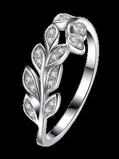Leaf S925 Diamond Ring - Silver 8