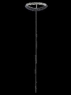 Tassel Fake Crystal Choker Necklace - Black