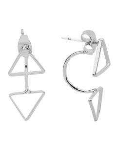 Triangle Ear Jackets - Silver
