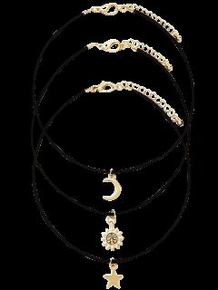 Estrella De La Luna Sun Set Collar Acodado - Dorado