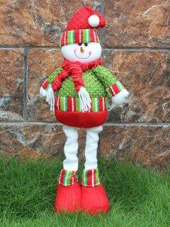Christmas Party Decorative Stretched Snowman Puppet Toy - Red And Green