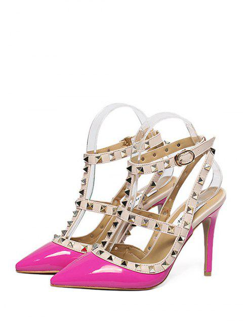 new Strap Rivet Pointed Toe Pumps -   Mobile