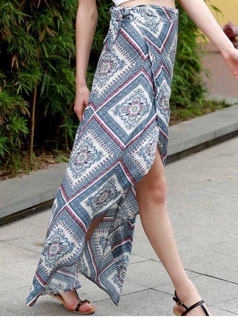 fancy High Waist Asymmetric Wrap Skirt - COLORMIX XL Mobile