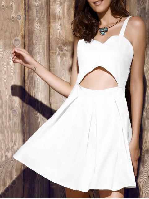 new Bare Midriff Strap Dress - WHITE 2XL Mobile