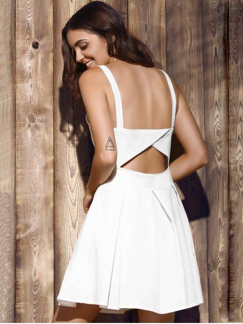 hot Bare Midriff Strap Dress - WHITE XL Mobile