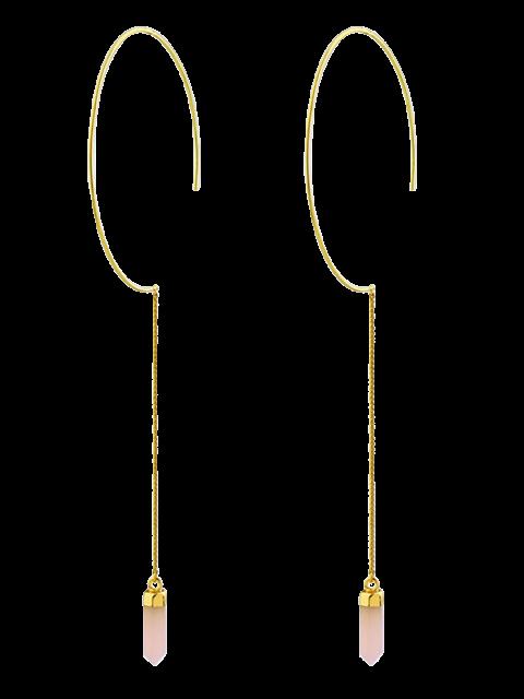 Boucles d'oreilles de pierre naturelle avec pendentif de  balle - ROSE PÂLE  Mobile