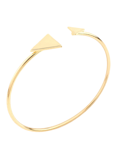 fashion Vintage Triangle Alloy Cuff Bracelet - GOLDEN  Mobile