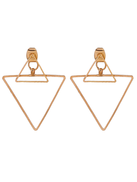 online Hollowed Triangle Punk Ear Jackets - GOLDEN  Mobile