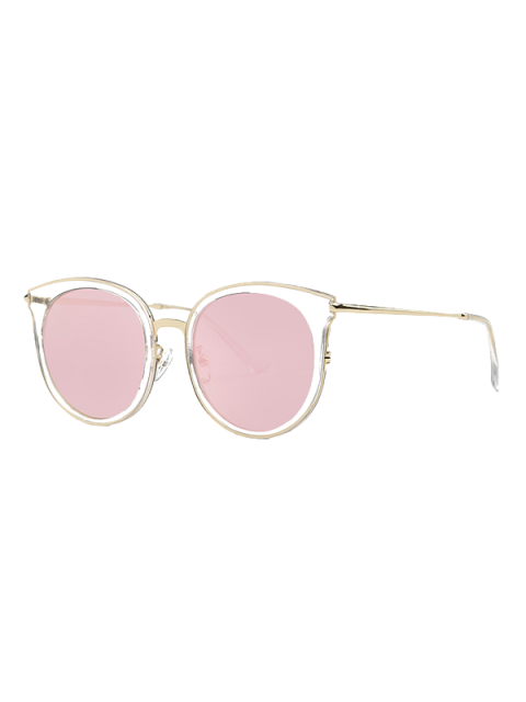 Transparent Cat Eye Mirrored Lunettes de soleil - Rose   Mobile