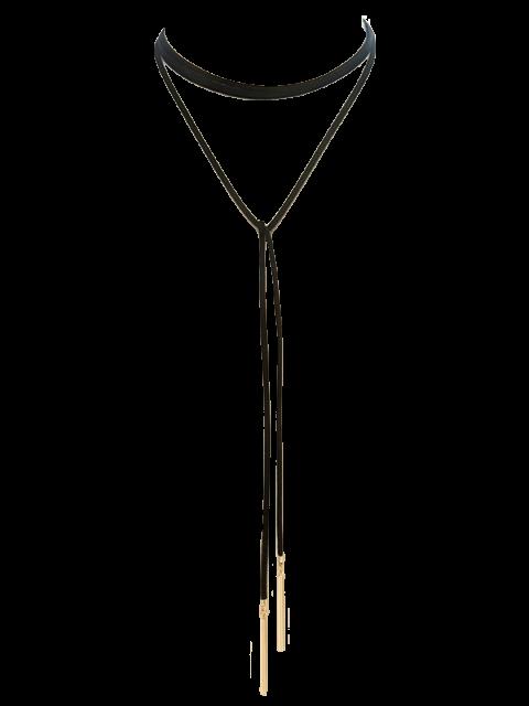 Collier de sweat ras du cou ruban - Noir  Mobile