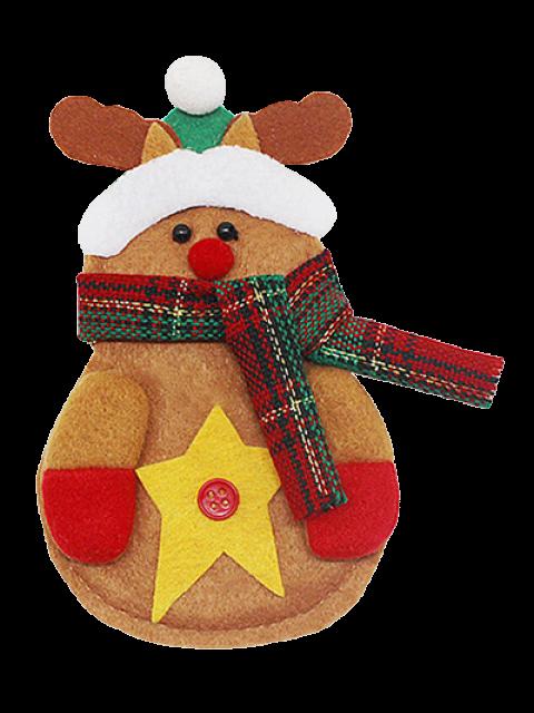 shops Merry Christmas Deer Shape Tableware Cover Bag -   Mobile