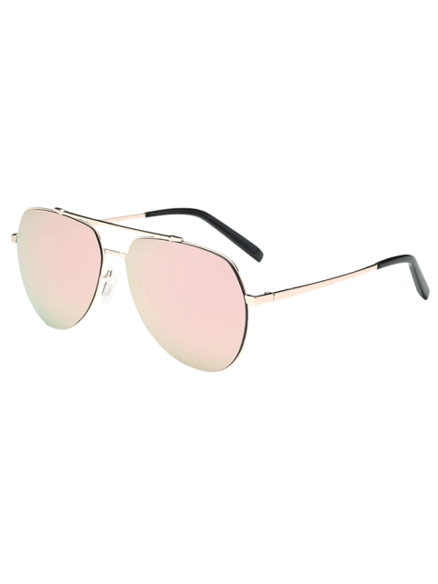shops Lightweight Mirrored Pilot Sunglasses - LIGHT PINK  Mobile