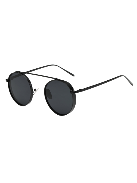 Große Rahmen runde Sonnenbrille - Schwarz  Mobile