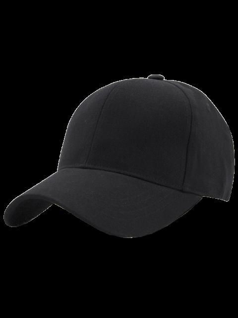 Heißer Verkauf Einstellbarer Outdoor Reine Farben Baseballmütze - Schwarz  Mobile