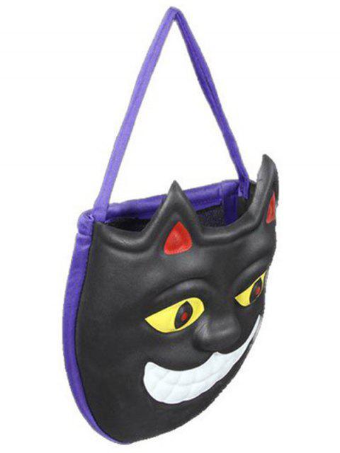 Masque Motif Color Block Sac de Halloween - Noir  Mobile