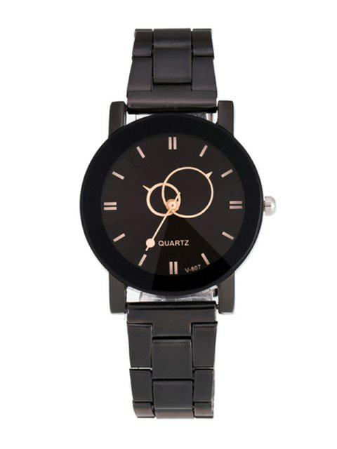 latest Circle Casual Steel Band Quartz Watch -   Mobile