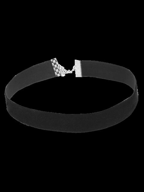 retro  collier ras-du-cou en velours - Noir  Mobile