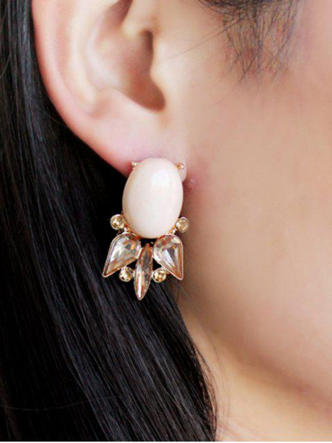 online Pair of Faux Gem Embellished Earrings - COLORMIX  Mobile