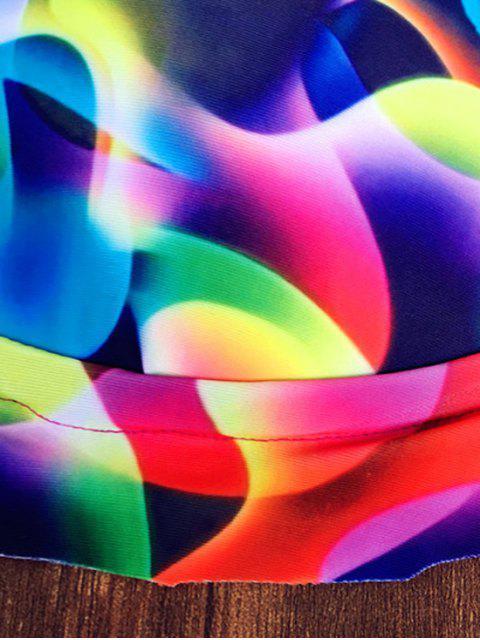 fashion Colorful Pattern Halter Bikini Set - COLORFUL XL Mobile