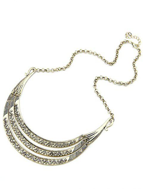 latest Tribal Style Carve Pendant Alloy Necklace - LIGHT GOLD  Mobile
