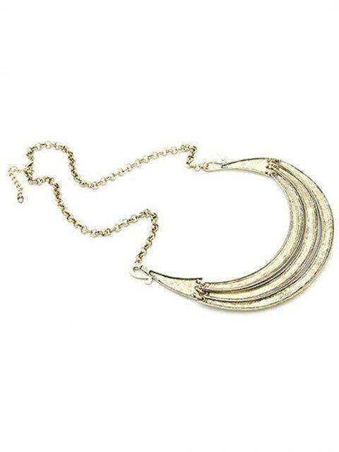 latest Tribal Style Carve Pendant Alloy Necklace - LIGHT GOLD  Mobile