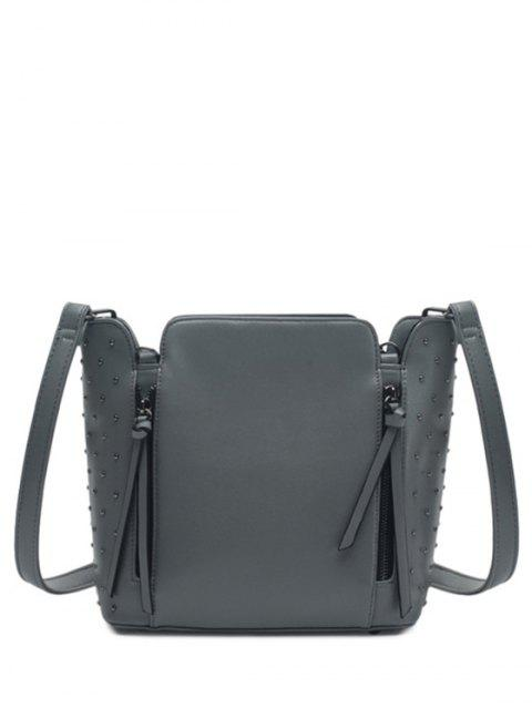 Rivers Zips épaule Solide Couleur Sac - Gris  Mobile