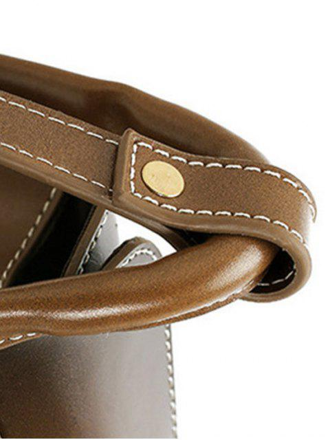 fashion Stitching Buckle PU Leather Crossbody Bag -   Mobile