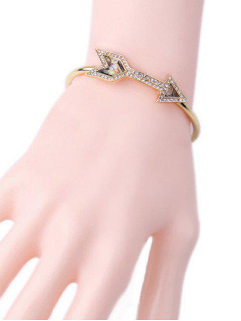 outfits Arrow Rhinestone Cuff Bracelet - GOLDEN  Mobile