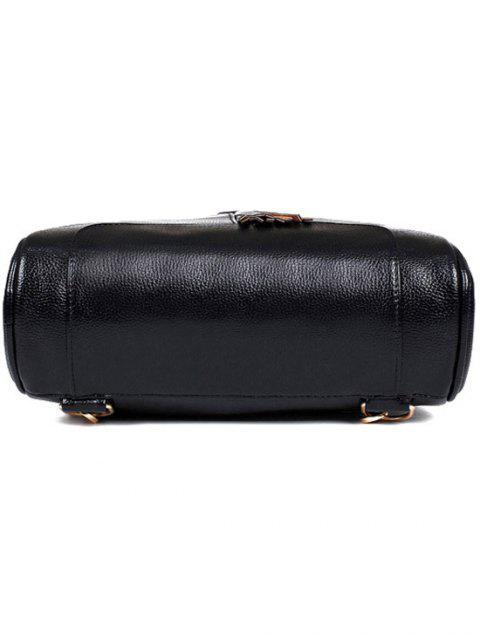 affordable Tassel Solid Color PU Leather Satchel -   Mobile