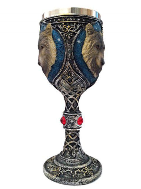 Drinkware Tête de loup Motif floral décoratif Halloween Goblet - Cuivre  Mobile