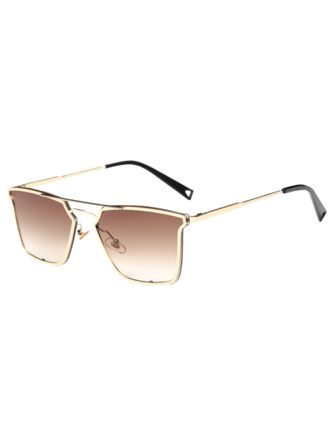 chic Irregular Double Rims Sunglasses -   Mobile