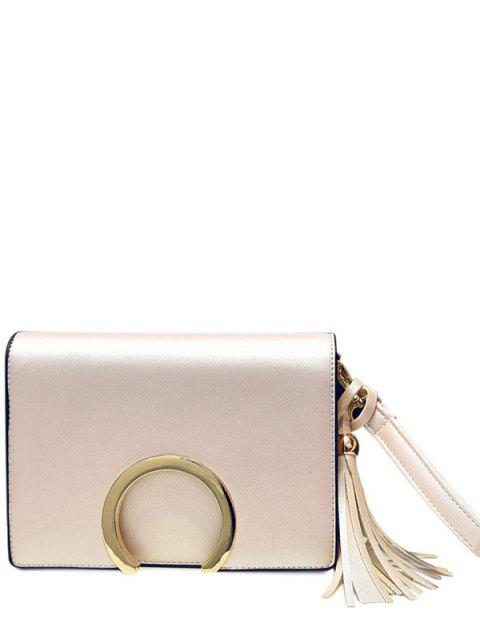 fashion Cover Metallic Tassel Crossbody Bag -   Mobile
