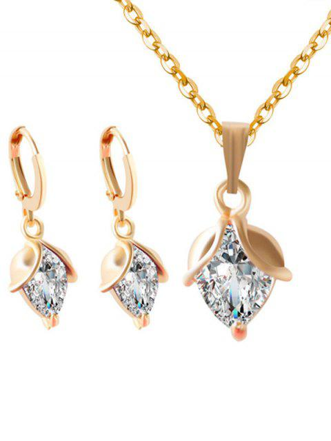 affordable Faux Crystal Wedding Jewelry Set -   Mobile