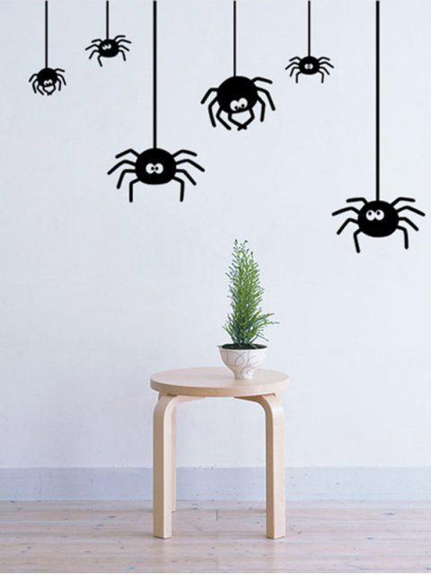 shops Irregular Spider Design Halloween Vinyl Wall Stickers Custom - BLACK  Mobile