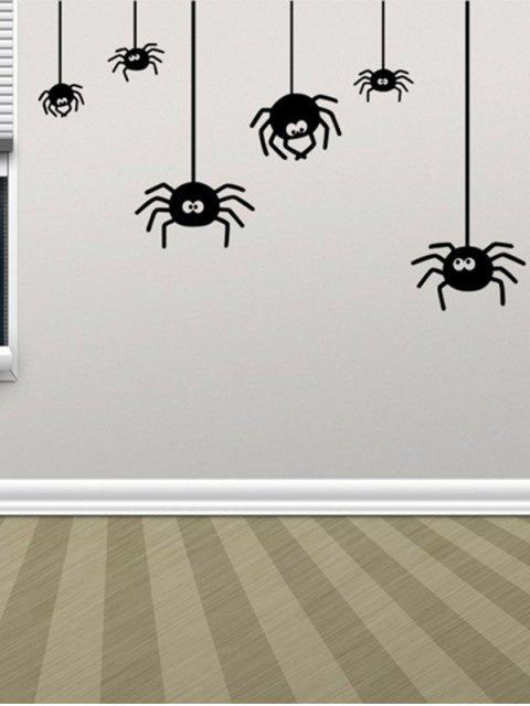 Unregelmäßiger Spinnen-Entwurfs-Halloween-Vinylwand-Aufkleber Gewohnheit - Schwarz  Mobile