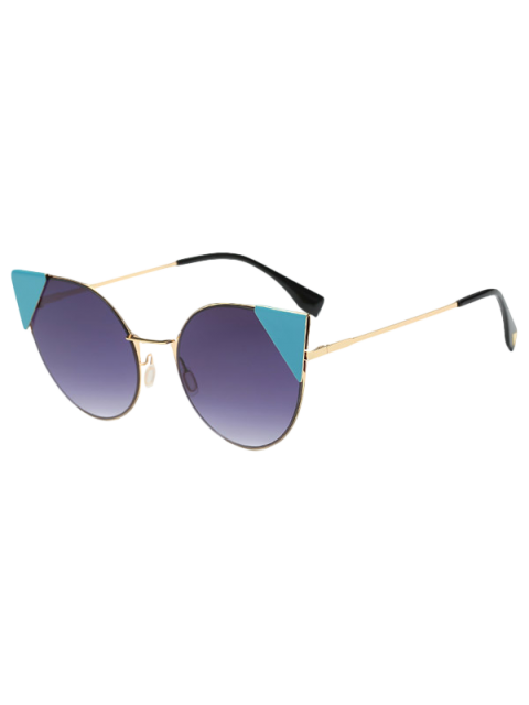 affordable Triangle Insert Cat Eye Sunglasses -   Mobile