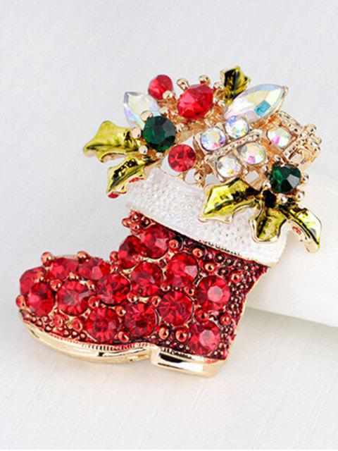 new Christmas Rhinestone Shoe Brooch -   Mobile