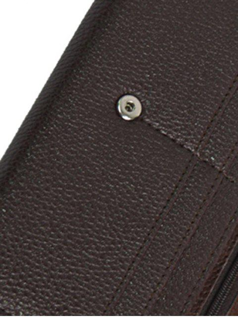 outfit Splicing Embossing PU Leather Wallet -   Mobile