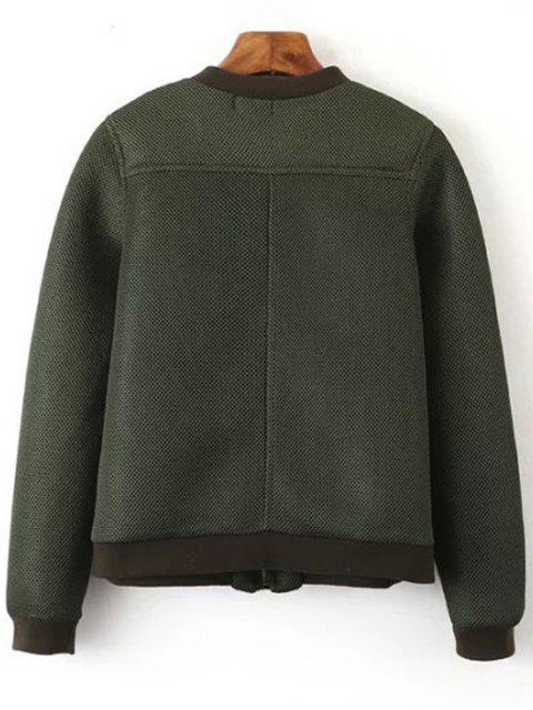 lady Big Pocket Mesh Design Pilot Jacket - GREEN M Mobile