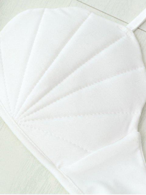 outfits Scalloped Shell Shape Bra - WHITE XL Mobile