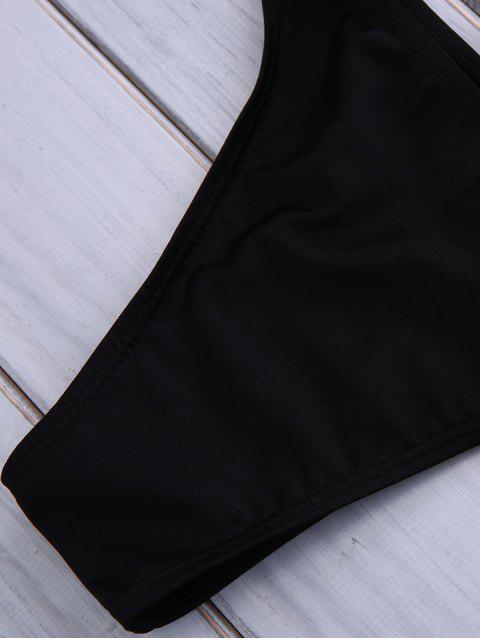 best Aztec Printed String Bikini - BLACK S Mobile