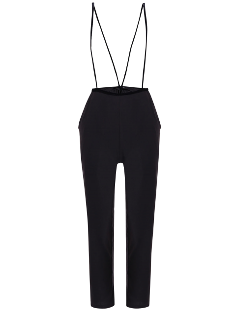 shop Black High Waisted Pencil Pants - BLACK XL Mobile