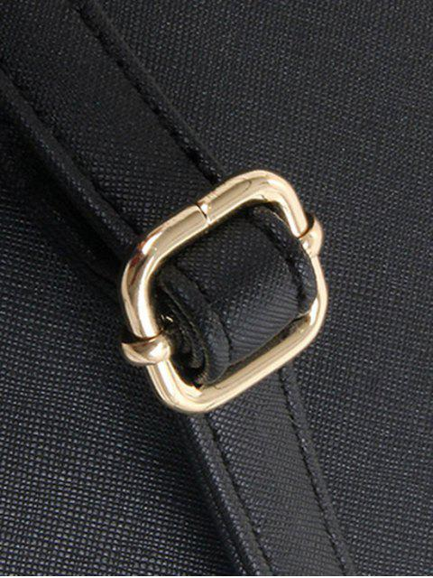 Cartoon Motif de broderie en cuir PU Sac fourre-tout - Noir  Mobile