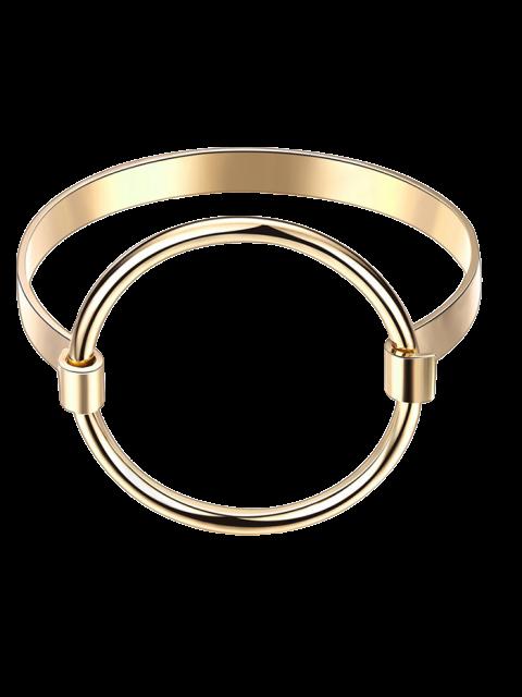 unique Hollowed Gold Plated Bracelet - GOLDEN  Mobile