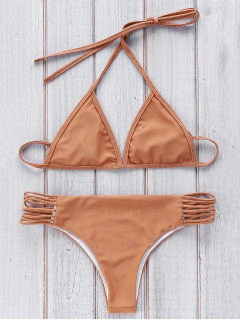 women's Brown Cami Bikini Set - BROWN ONE SIZE(FIT SIZE XS TO M) Mobile